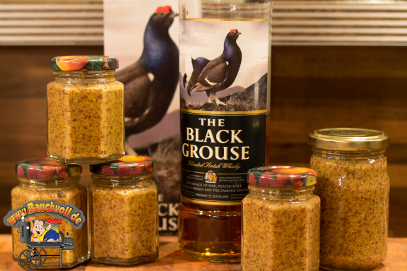 Whiskeysenf mit Black Grouse