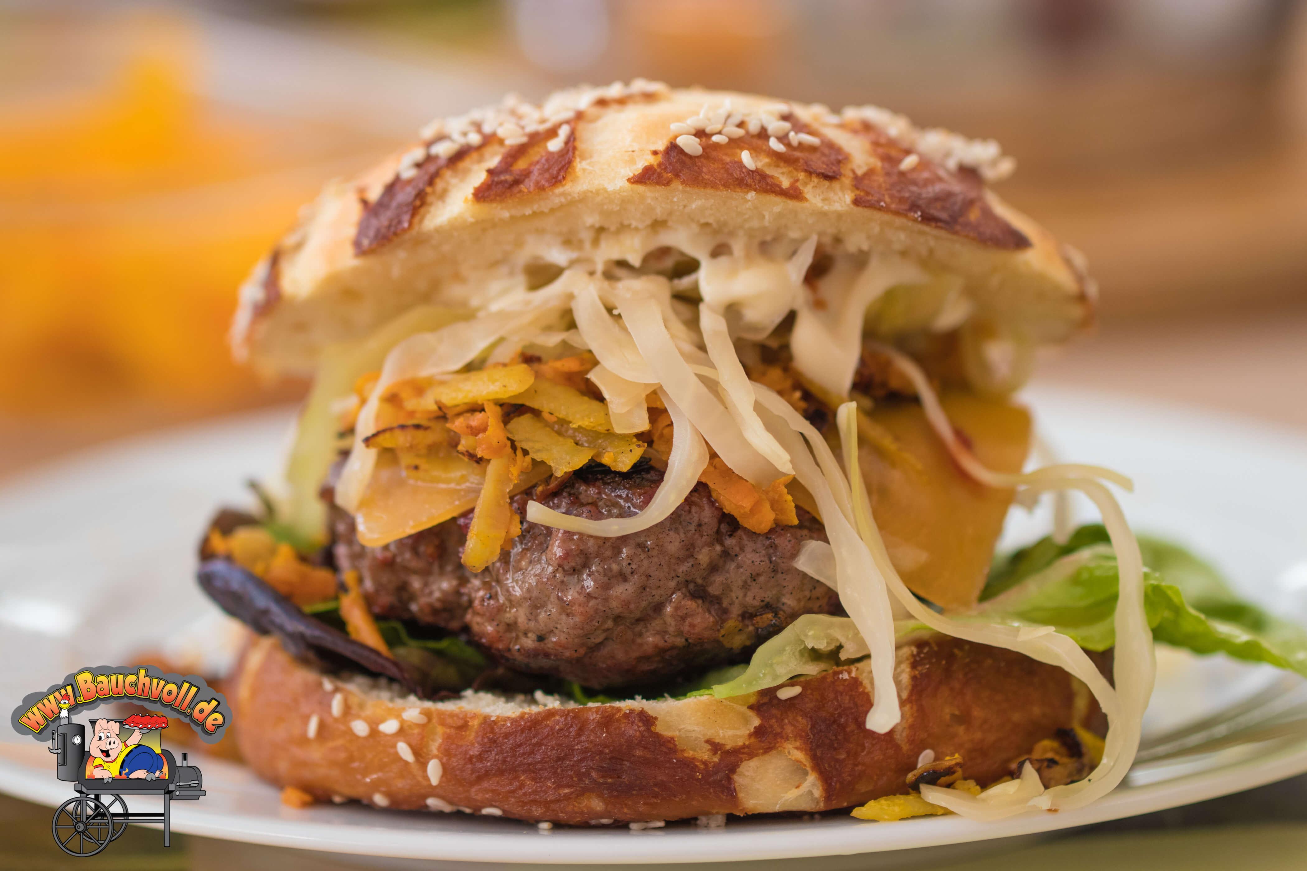 Sauerkraut schmeckt auch perfekt auf Burger!