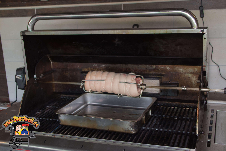 Porchetta auf dem Gasgrill