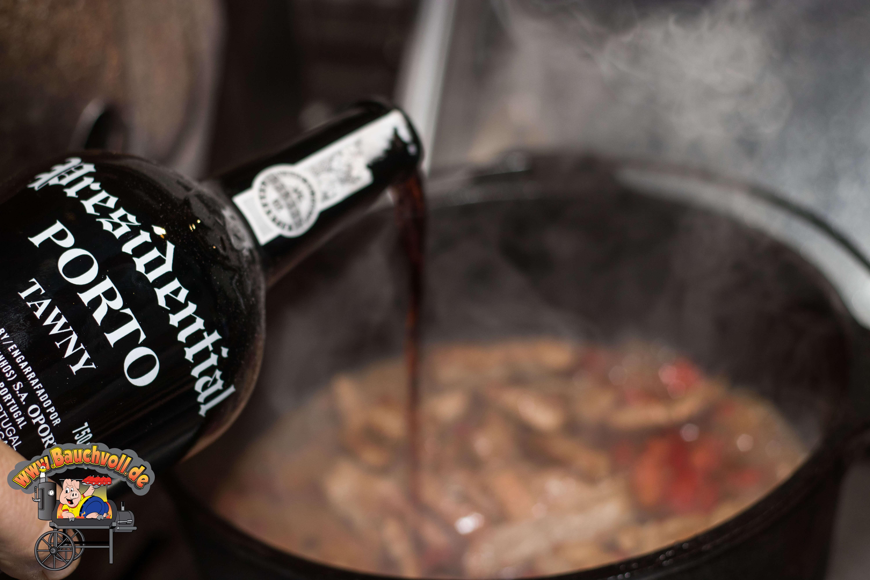 Kalbsgeschnetzeltes mit Portwein